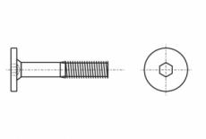 013.17a Гвинт з плоскою головкою під внутрішній шестигранник часткова різьба