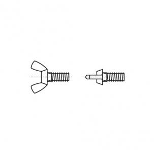 DIN 316 A2 Винт барашковый амер. форма