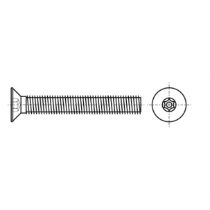ART 9113 A2 Гвинт антивандальний з потайною головкою