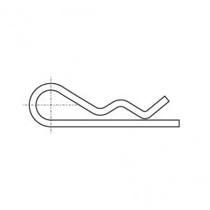 DIN 11024 A4 Шплинт пружинный Форма Е