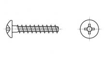 https://dinmark.com.ua/images/ART 9091 Шуруп с полукруглой головкой для термопластика с крестообразным шлицем