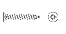 https://dinmark.com.ua/images/ART 9063 Шуруп з потайною головкою і хрестоподібним шліцом