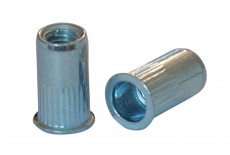 AN 320 A2 Клепальна гайка з потайним буртиком рифлена (малий потай)