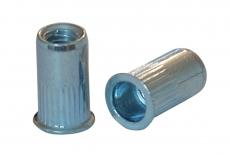 AN 320 цинк Клепальна гайка з потайним буртиком рифлена (малий потай)