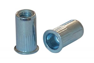 AN 320 цинк Клепальная гайка с потайным буртиком рифленая (малый потай)