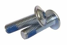 ISO 7380-2 10,9 цинк Болт с полукруглой головкой и нейлоновым покрытием DIN 267-28 KLF