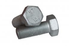 DIN 933 10,9 цинк платковий Болт з шестигранною головкою і повною різьбою