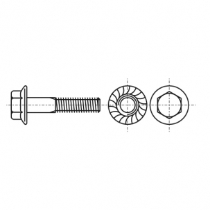 DIN 6921 10,9 цинк Болт з шестигранною головкою і зубчастим фланцем