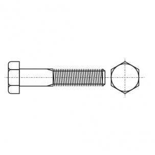 DIN 931 12,9 цинк платков Болт с шестигранной головкой и частичной резьбой