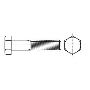 DIN 960 10,9 цинк платковый Болт с шестигранной головкой и частичной резьбой, мелкий шаг резьбы
