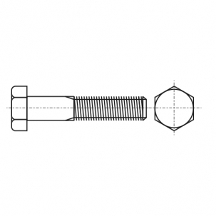 DIN 960 8,8 цинк Болт с шестигранной головкой и частичной резьбой, мелкий шаг резьбы