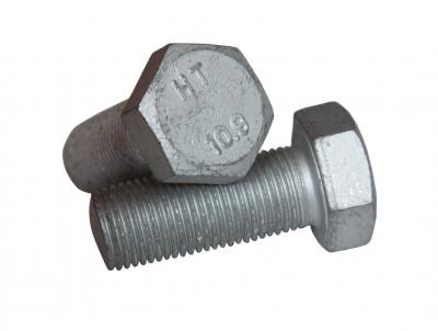 DIN 961 10,9 цинк платков Болт с шестигранной головкой и полной резьбой, мелкий шаг резьбы