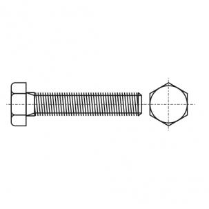 DIN 961 8,8 Болт с шестигранной головкой и полной резьбой, мелкий шаг резьбы