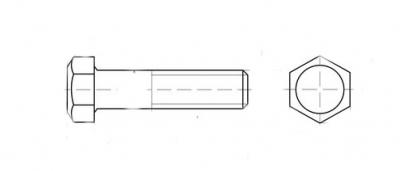 ГОСТ 7796 8,8 цинк Болт з шестигранною головкою
