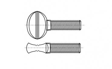 AN 264 цинк Болт-палець - Dinmark