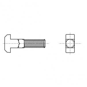 DIN 186 4,6 Болт Т-образный + DIN 934