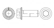 https://dinmark.com.ua/images/ART 88912 Болт с цилиндрической головкой, внутренним шестигранником и зубчатым фланцем