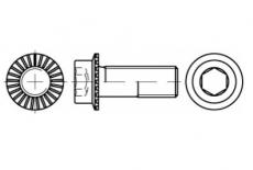 ART 88912 10,9 цинк платковий Болт із внутрішнім шестигранником та зубчастим фланцем