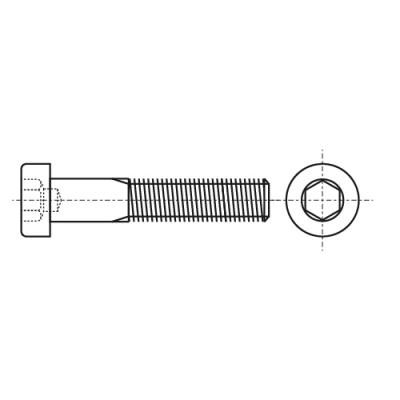 DIN 6912 10,9 Болт з циліндричною головкою і внутрішнім шестигранником