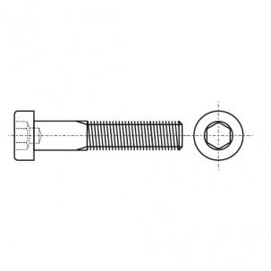 DIN 6912 A2 Болт з циліндричною зменшеною головкою і внутрішнім шестигранником