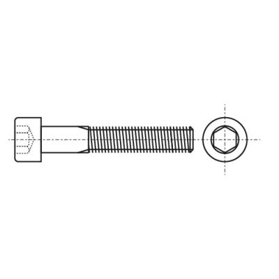 DIN 7984 8,8 Болт з циліндричною головкою і внутрішнім шестигранником
