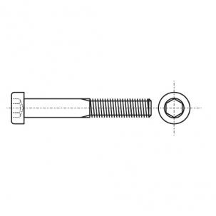 DIN 912 12,9 цинк платков Болт с цилиндрической головкой и внутренним шестигранником