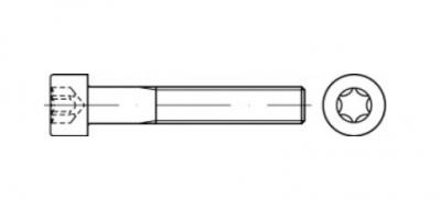 ISO 14579 8,8 цинк Болт с цилиндрической головкой под torx