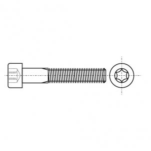 ISO 14579 A2 Болт з циліндричною головкою під torx