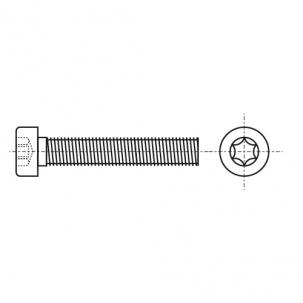 ISO 14580 A2 Болт з циліндричною зменшеною головкою під torx