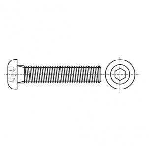 ISO 7380-1 A4 Болт з напівкруглою головкою і внутрішнім шестигранником
