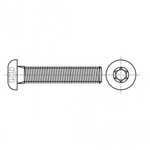 ISO 7380-1 A4 Болт з напівкруглою головкою під torx