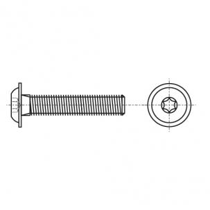 ISO 7380-2 A4 Болт с полукруглой головкой под torx с фланцем