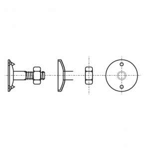 DIN 15237 4,6 цинк Болт норійний