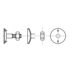 DIN 15237 8,8 цинк Болт норійний