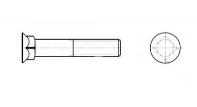 DIN 608 8,8 Болт с потайной головкой