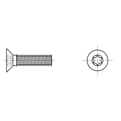 DIN 7991 10,9 цинк платковый черный Болт с потайной головкой под torx