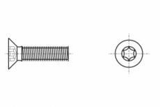 ISO 14581 4,8 цинк Болт с потайной головкой под torx