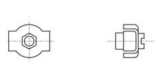 https://dinmark.com.ua/images/ART 8330 Зажим для троса SIMPLEX с одной гайкой
