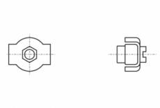 AN 96 цинк Зажим для троса SIMPLEX с одной гайкой