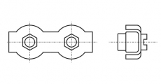 https://dinmark.com.ua/images/ART 8331 Зажим для тросу DUPLEX з двома гайками
