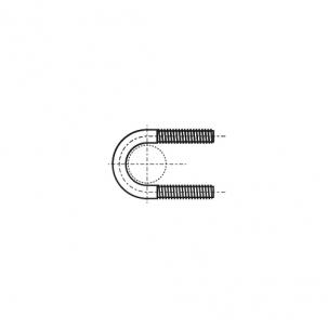 DIN 3570 цинк Хомут U-образный