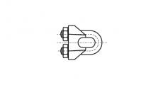 https://dinmark.com.ua/images/DIN 741 Зажим для тросу з двома гайками