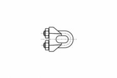 DIN 741 Зажим для тросу з двома гайками нержавіючий A4