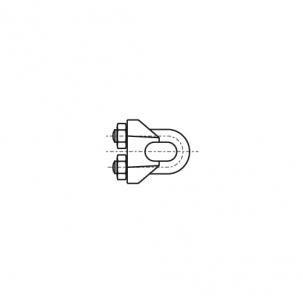 DIN 741 цинк Зажим для тросу з двома гайками
