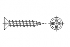 AN 210 Саморез для окон с потайной головкой