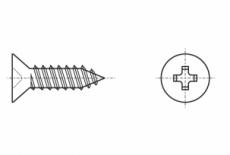 DIN 7982-C A2 Саморіз з потайною головкою PZ
