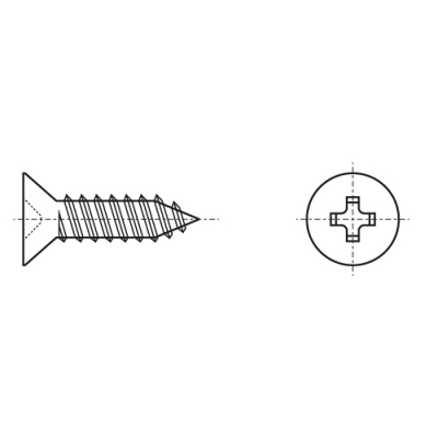 DIN 7982 A2 Саморіз з потайною головкою torx