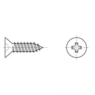 DIN 7982-C цинк Саморіз з потайною головкою PH