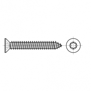 ISO 14586-C A2 Саморіз з потайною головкою під torx