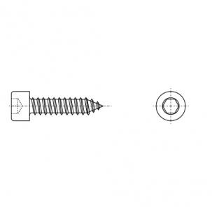ART 9051 A4 Саморез с цилиндрической головкой и внутренним шестигранником - Dinmark